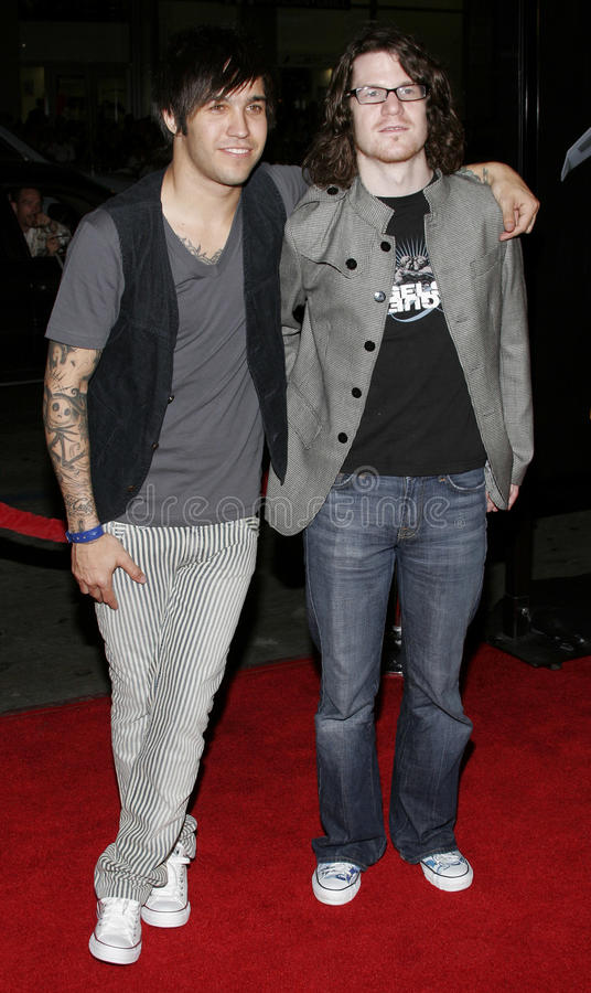 Andy Hurley et Pete Wentz photo stock