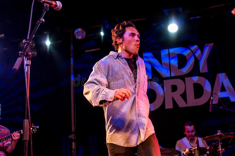 Andy Jordan. LONDON, UK 18th march. Show of Andy Jordan in the scale. London 18.03.2015 royalty free stock image