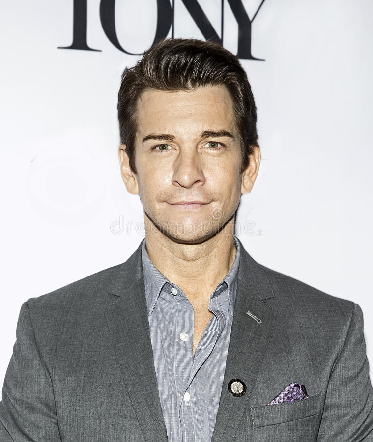 Andy Karl. Actor Andy Karl arrives for the 2017 Tony Awards Meet the Nominees Press Junket at the Sofitel New York Hotel in mid-town Manhattan on May 3 royalty free stock image