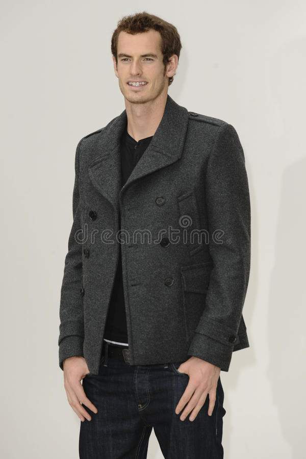 Andy Murray. Tennis player, Andy Murray arrives for the Burberry Prorsum SS'12 catwalk show in Kensington Gardens as part of London Fashion Week. 19/09/2011 stock images