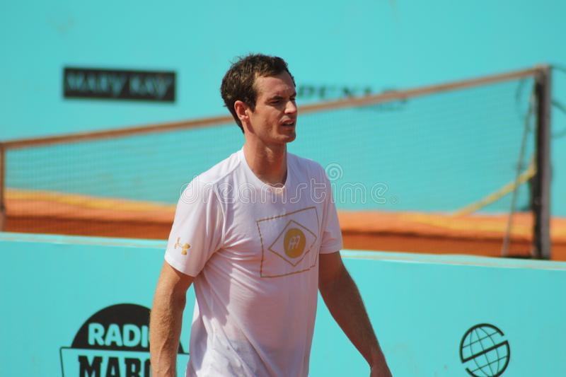Andy Murray. Andy Murray at the practice at Madrid Open in 2017 royalty free stock photos