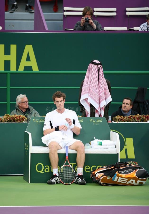 Andy Murray at Qatar tennis 2009 royalty free stock photography