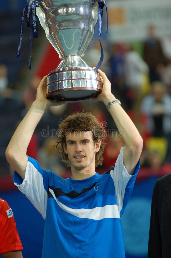 Andy Murray St.Petersburg Open 2007 (20) stock images