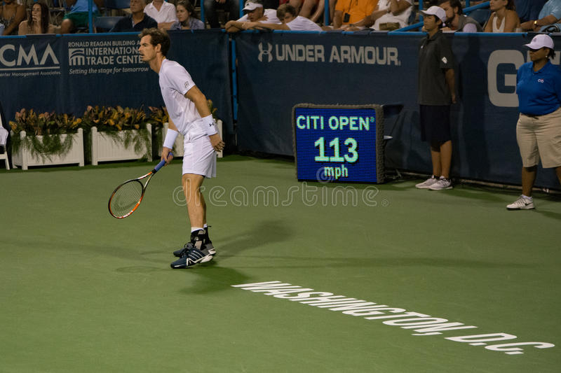 Andy Murray in Washington DC for the Citi Open 2015 royalty free stock photo