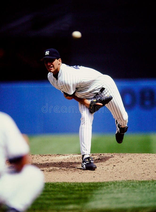 Andy Pettite New York Yankees. New York Yankees left handed pitcher Andy Pettite. (Image taken from color slide royalty free stock images