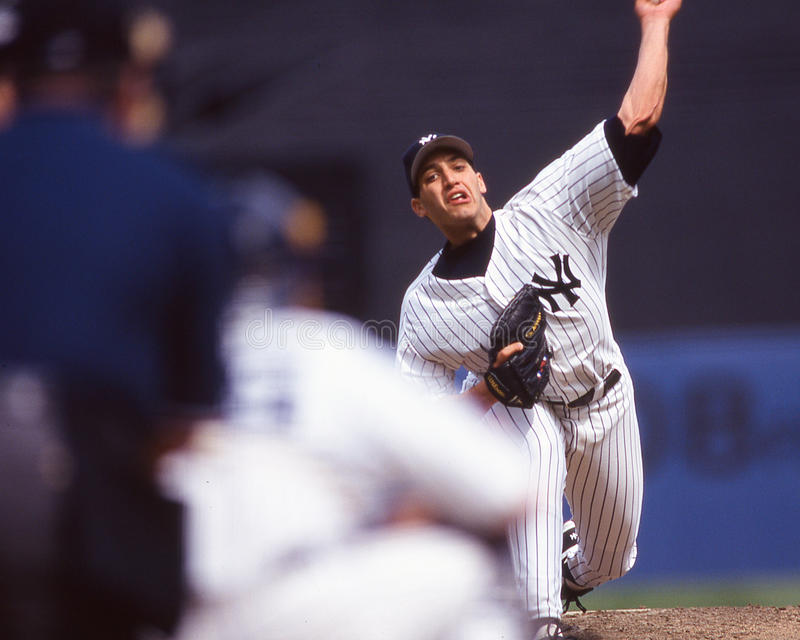 Andy Pettitte New York Yankees. New York Yankees left handed pitcher Andy Pettitte. (Image taken from color slide royalty free stock images