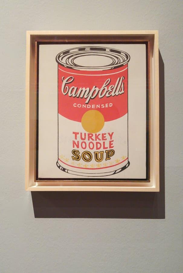 Andy Warhol Campbell-` s Suppen-Dosen stockbilder