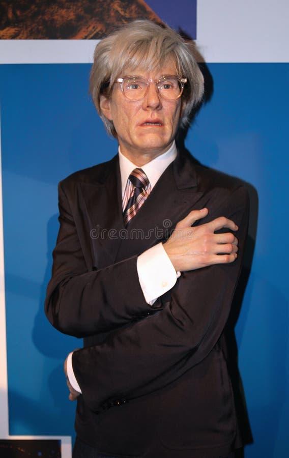 Andy Warhol an der Madame Tussauds lizenzfreie stockbilder