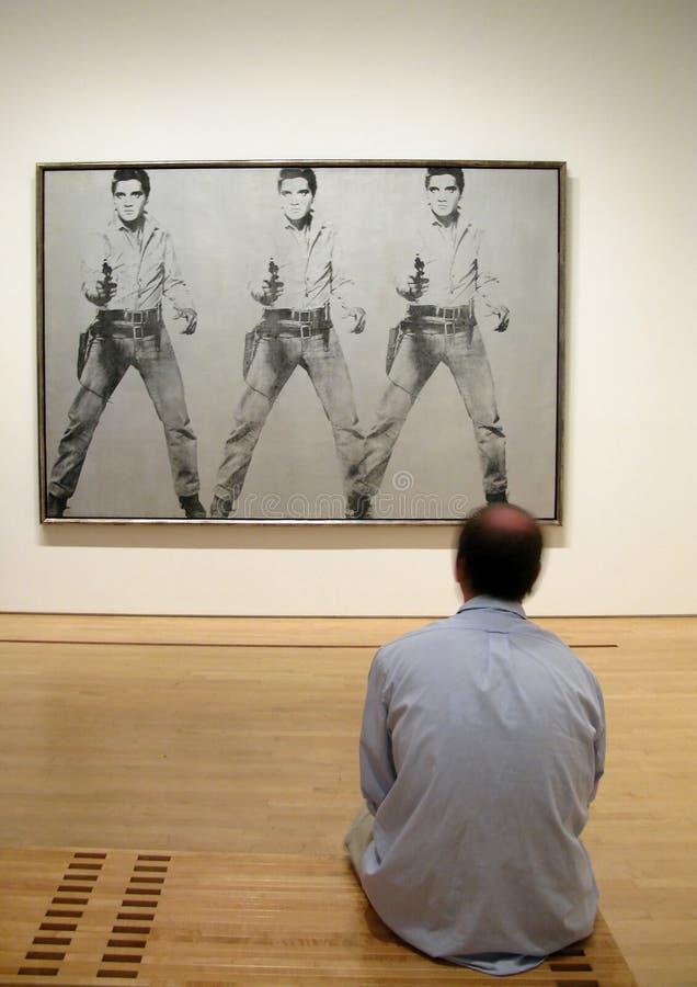 Andy Warhol en Elvis Presley royalty-vrije stock afbeeldingen