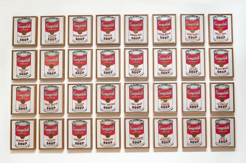 Andy Warhol--Från A till B och tillbaka igen på Whitney Museum fotografering för bildbyråer