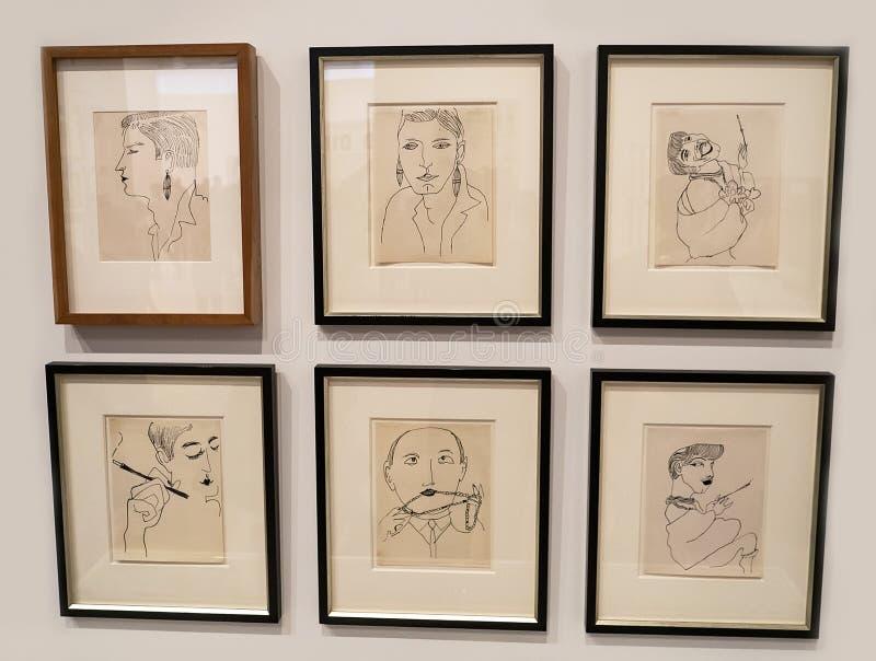 Andy Warhol--Från A till B och tillbaka igen på Whitney Museum royaltyfri bild