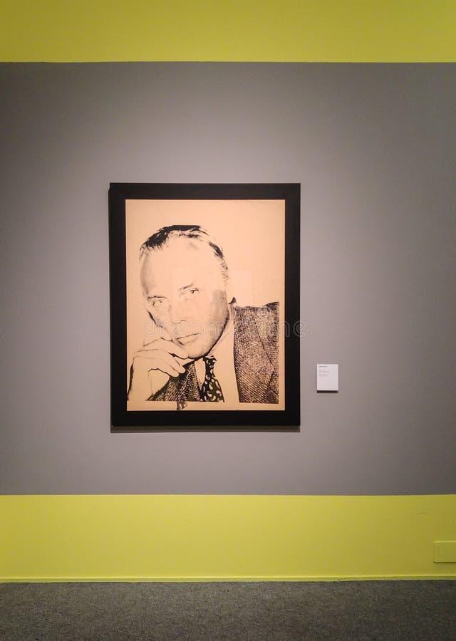 Andy Warhol Giorgio Armani druk zdjęcie stock