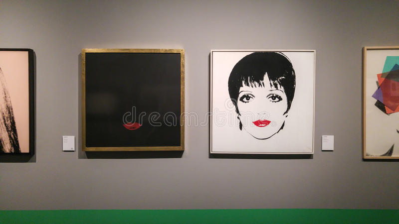 Andy Warhol Liza Minnelli foto de stock royalty free