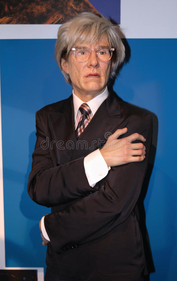 Andy Warhol at Madame Tussaud's royalty free stock images