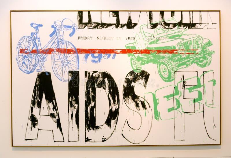 Andy Warhol-Malerei in Pinakothek-der Moderne in München lizenzfreie stockbilder