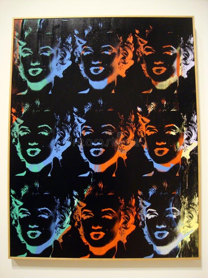 Andy Warhol, Marilyn Monroe, 1967, screenprint op vertoning stock afbeeldingen