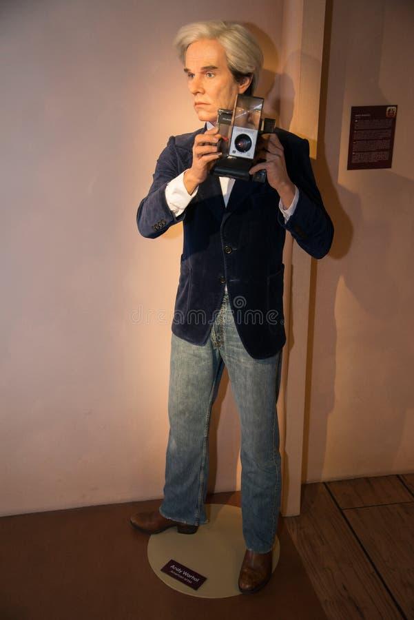 Andy Warhol nel museo di Grevin delle figure di cera a Praga fotografia stock libera da diritti