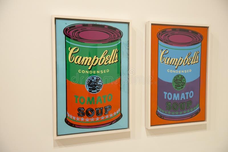 Andy Warhol, Nowożytna wystrzał sztuka obrazy royalty free
