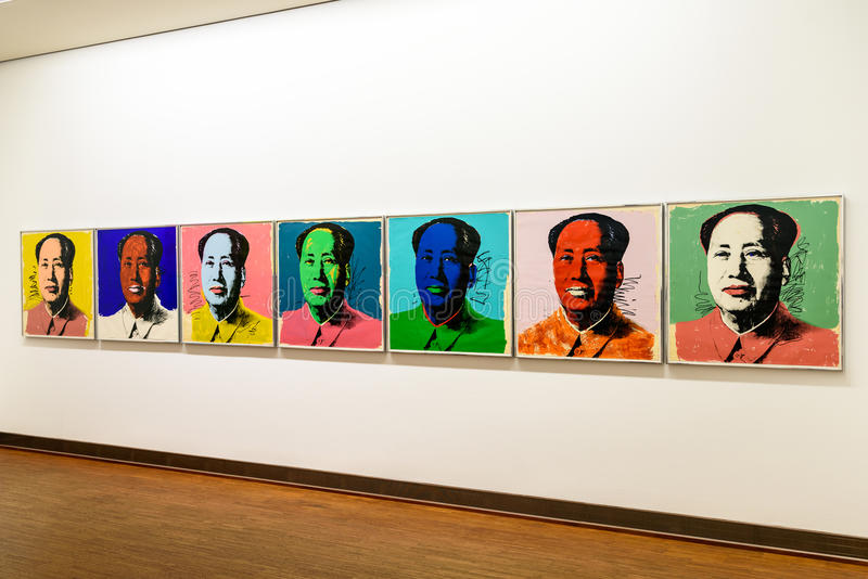 Andy Warhol Paintings At Albertina-Museum in Wenen royalty-vrije stock afbeelding