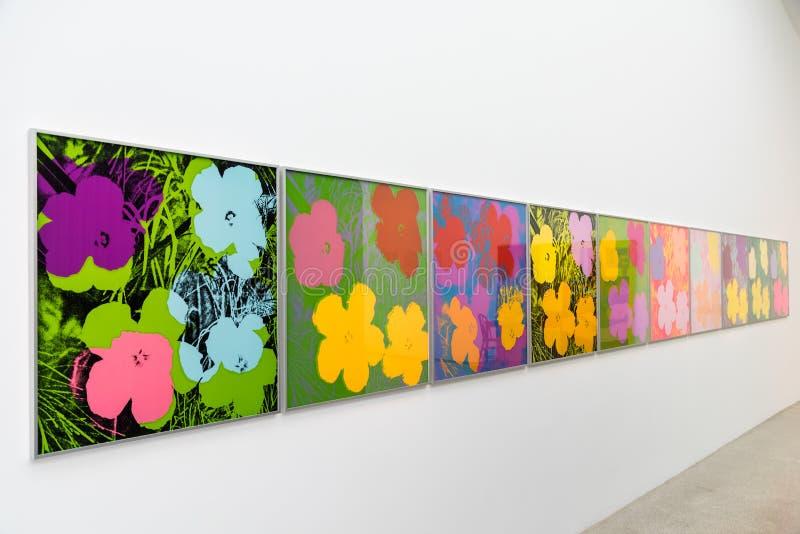 Andy Warhol Paintings At Mumok Museum stock photo