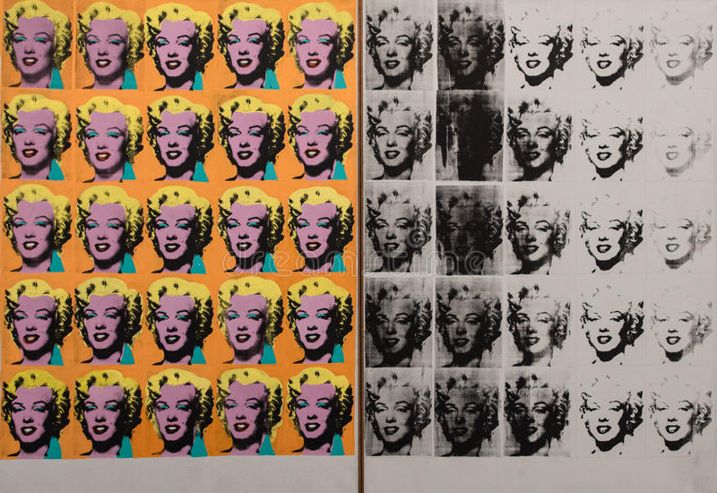 Andy Warhol Marilyn Monroe. An Andy Warhol portrait print of Marilyn Monroe, an American actress and model. Famous for playing comic `dumb blonde` characters