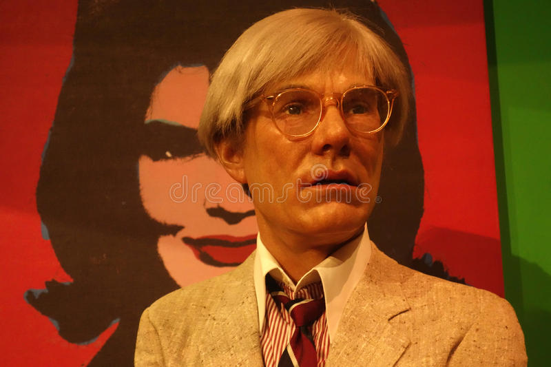 Andy Warhol Wax Figure immagine stock