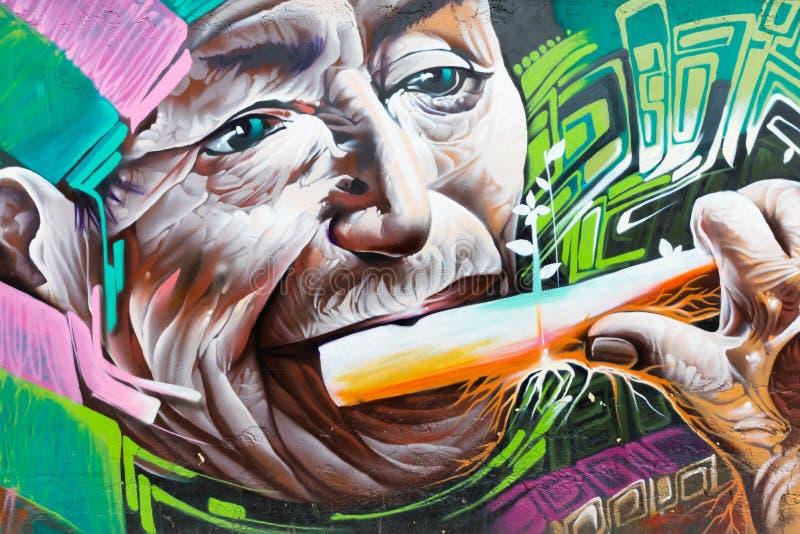 Andyjscy fletowego gracza murales Otavalo Ekwador zdjęcia royalty free