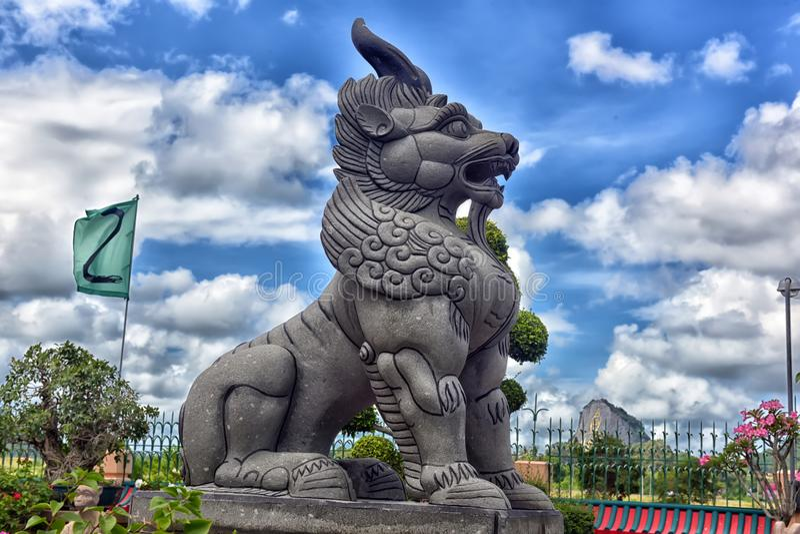 Anek Kuson Sala Pattaya, Viharn Sien is mooi Chinees t royalty-vrije stock foto's
