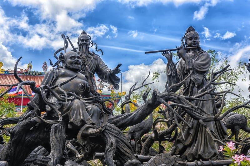 Anek Kuson Sala Pattaya, Viharn Sien is mooi Chinees t royalty-vrije stock foto