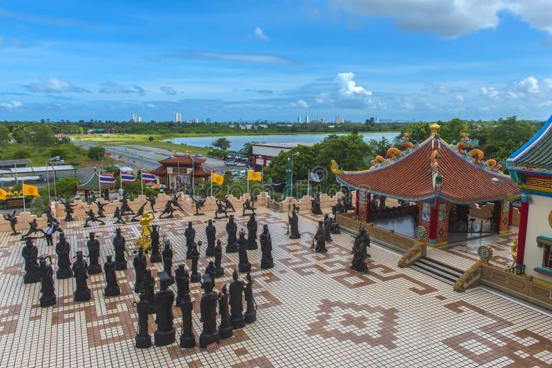 Anek Kuson Sala Pattaya Viharnen Sien är en härlig kines t fotografering för bildbyråer