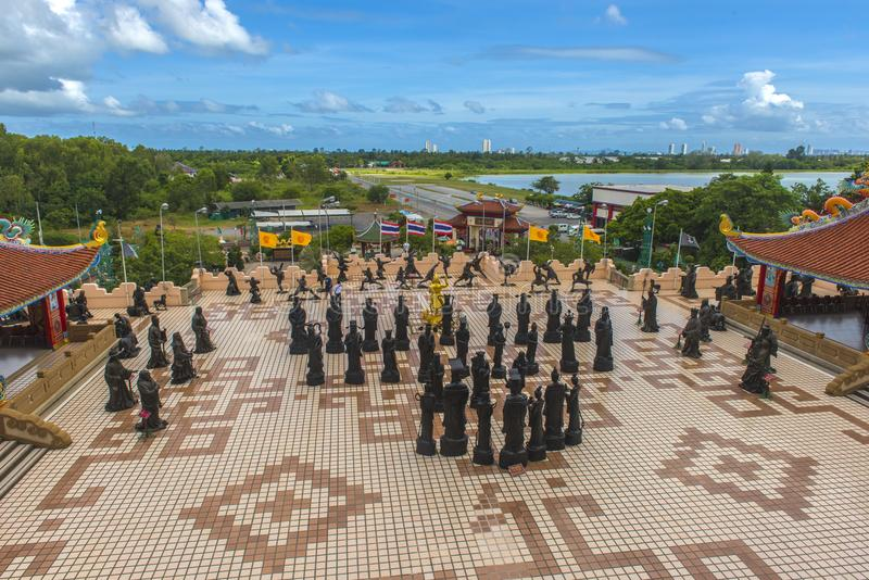 Anek Kuson Sala Pattaya Viharnen Sien är en härlig kines t royaltyfria foton