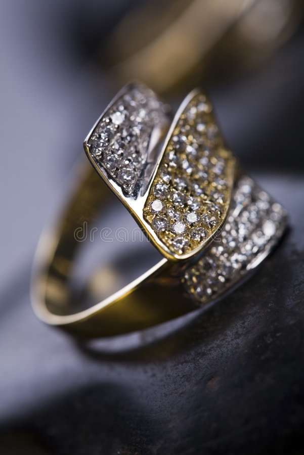 Anel & diamante imagens de stock