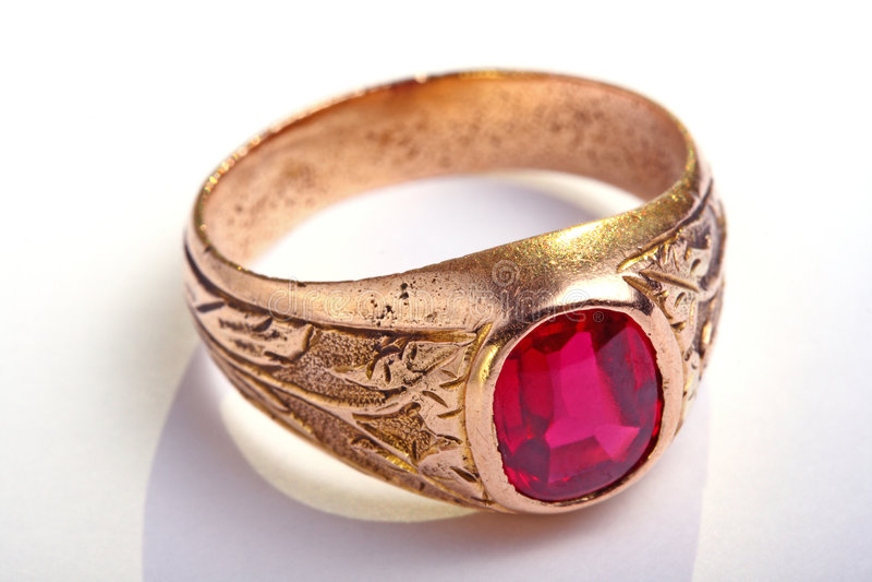 Anel Antic, jóia foto de stock royalty free
