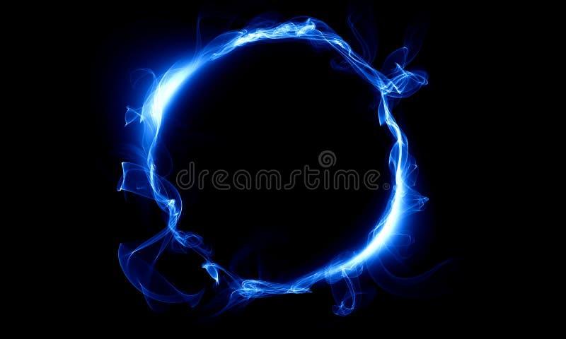 Anel azul que consiste em um fumo A coisa mágica fantasy fotografia de stock