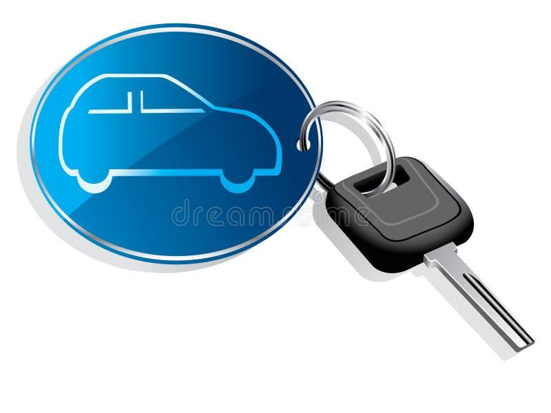 Anel chave do carro ilustração do vetor