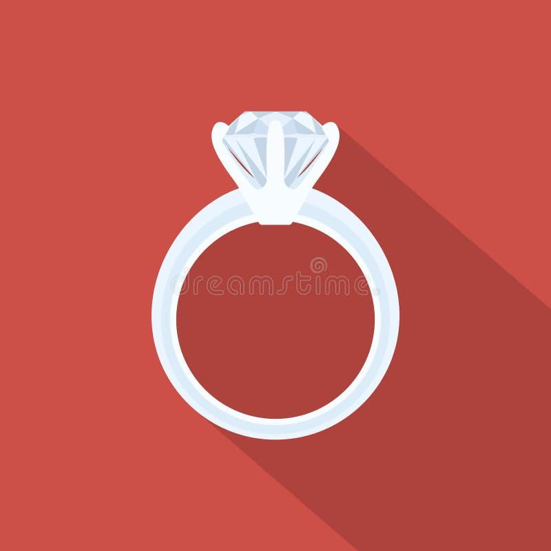 Anel com diamante ilustração stock