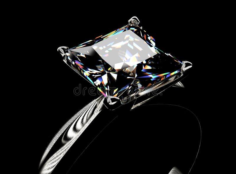 Anel com diamante Fundo da joia da forma imagem de stock royalty free