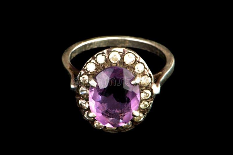 Anel da jóia isolado imagens de stock royalty free