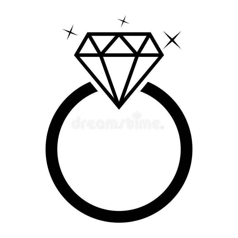 Anel da joia do diamante ilustração stock