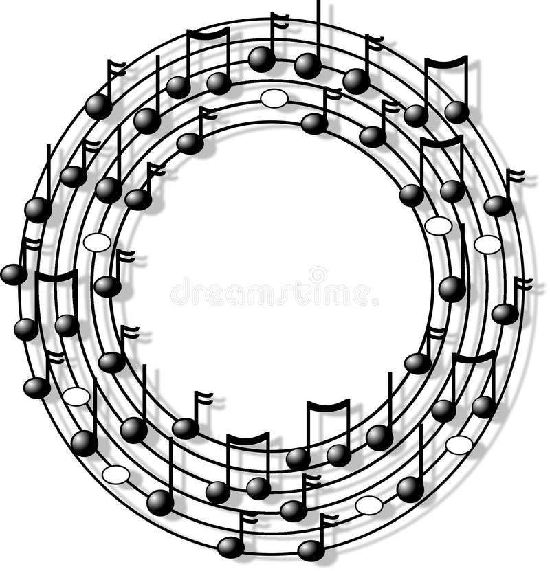 Anel da música ilustração stock