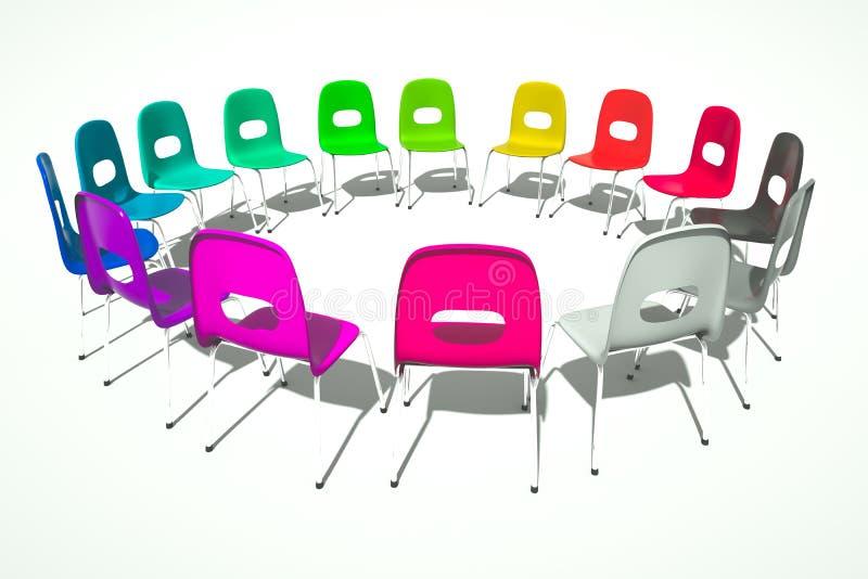 Anel das cadeiras ilustração stock