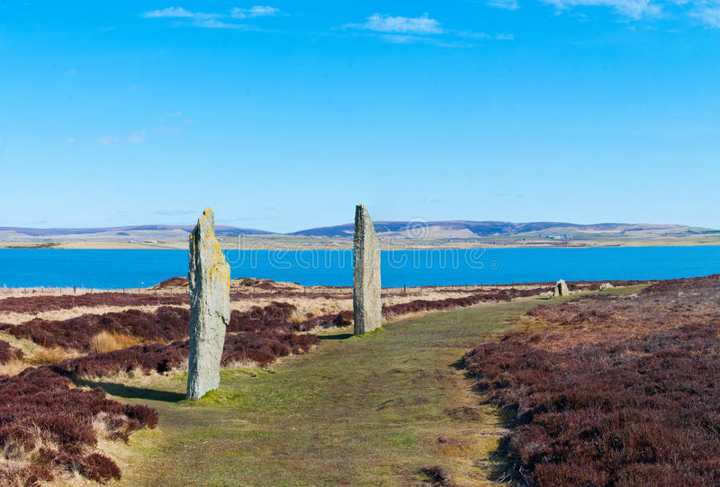 Anel de Brodgar, ilha de Orkney foto de stock