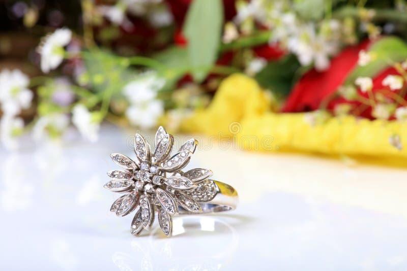 Anel de casamento foto de stock