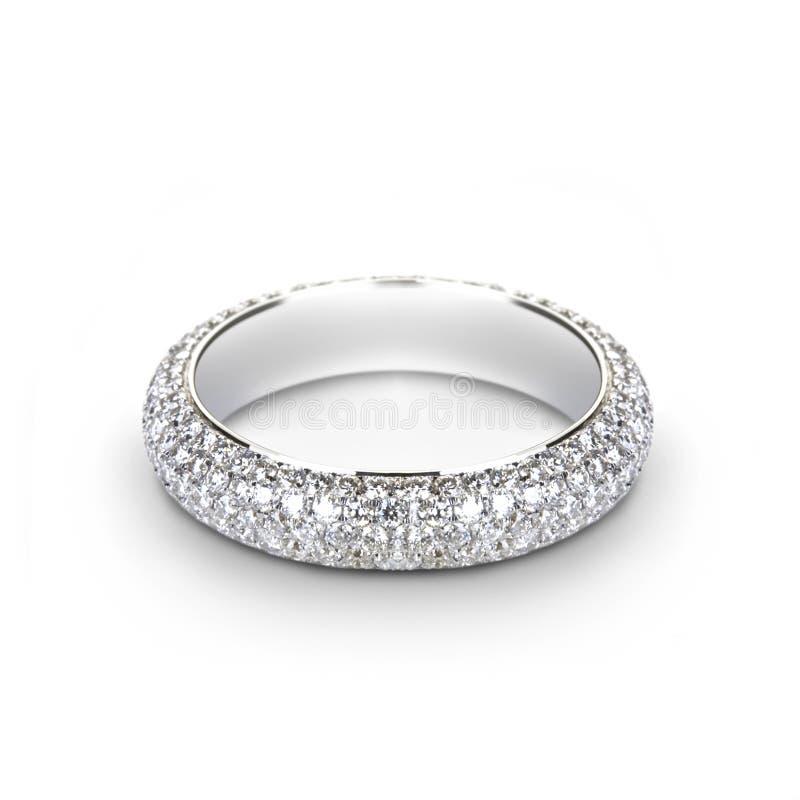 Anel de casamento do ouro branco para ela fotos de stock royalty free