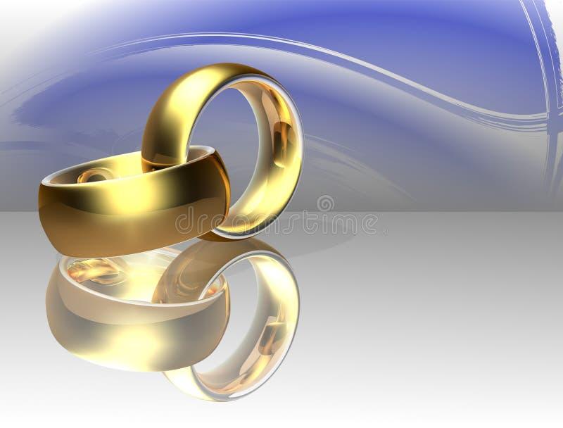 Anel de casamento dois ilustração stock