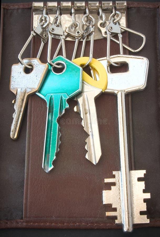 Anel de chaves do bolso foto de stock