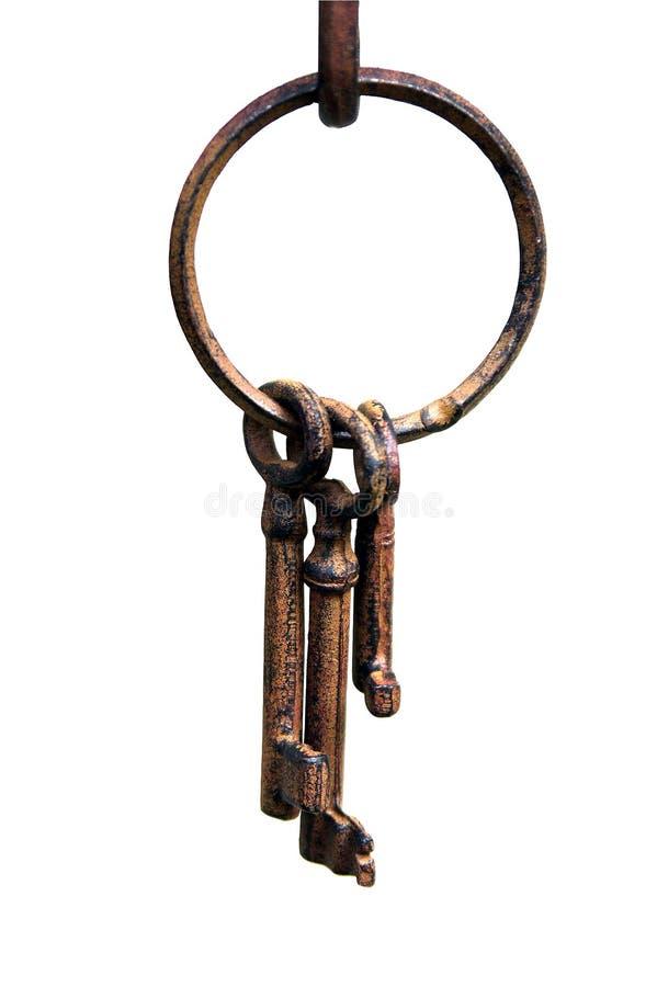 Anel de chaves do ferro fotografia de stock