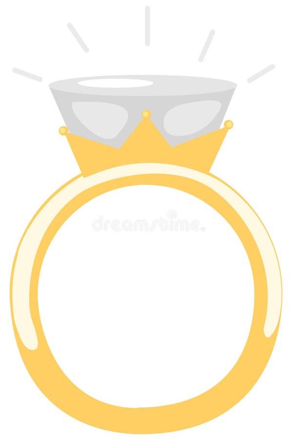 Anel de diamante ilustração royalty free