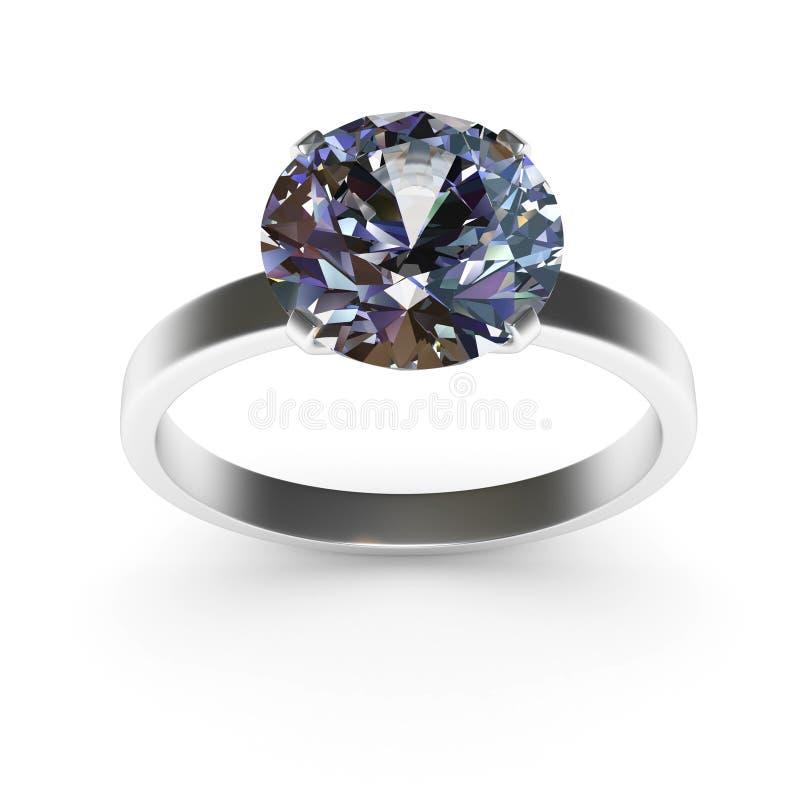 Anel de diamante ilustração do vetor