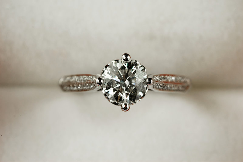 Anel de diamante imagens de stock royalty free